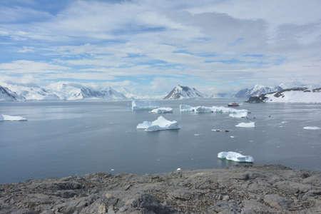 Icebergs, bergy bits and icefields, Antarctica, December 2019