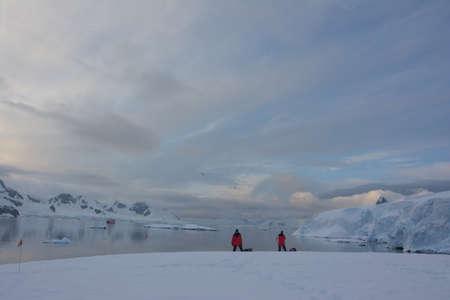 Explorers camping and kayaking, Antarctica, December 2019