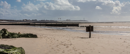 a view from the beach at Clevelys looking towards blackpool, UK Imagens
