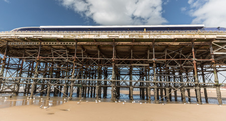 the end of central  pier Blackpool Imagens