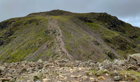 The summit of Scafell Pike