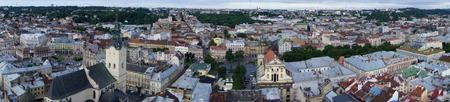 lvov: Lvov aerial view Stock Photo