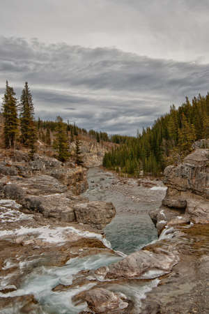 Elbow Falls in Alberta Canada in Winter  Stock Photo - 15524772