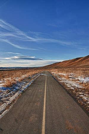 Bike path in the prairies