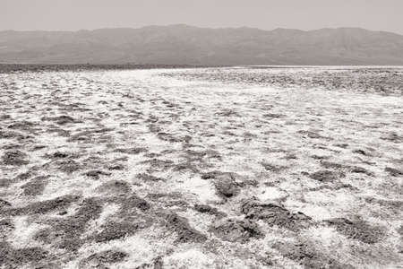 The salty textured surface of Badwater Basin