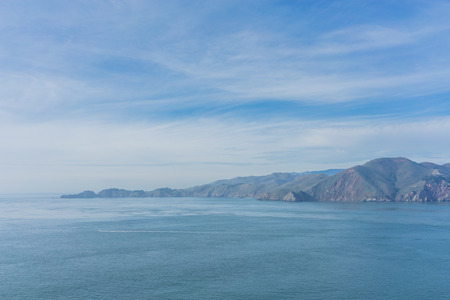 Blue ocean landscape of the gulf of the Farallones, San Francisco.