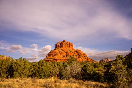 Landscape of Bell Rock in Secona Arizona. Stock Photo