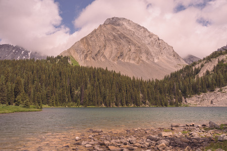 Summer Landscape of Gusty Peak with Chester Lake in the foreground. Stock Photo