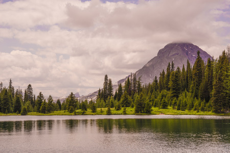 Summer landscape of Mt Galatea with Chester Lake in the foreground.