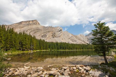 First of four of the Picklejar Lakes in Kananaskis, Alberta.