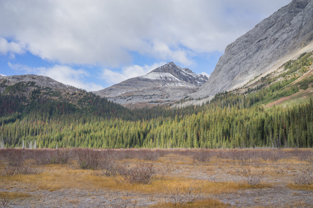 Rocky Mountains in Burstal Pass, Kananskis, Albarta.
