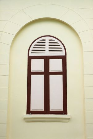 Window of temple photo