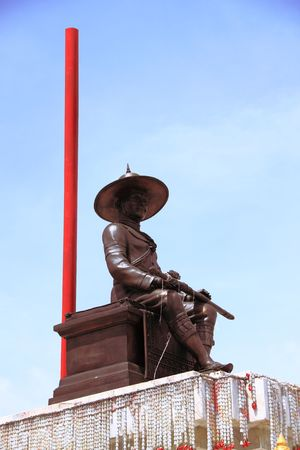 Statue of king Taksin. photo