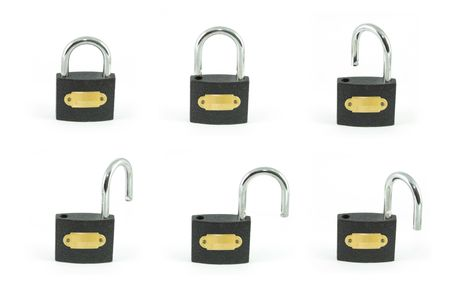 Black padlock photo