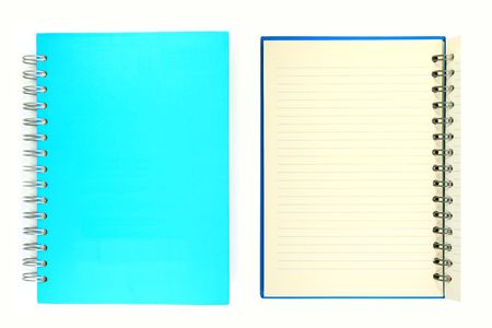 Notebook cover and paper. Stock Photo