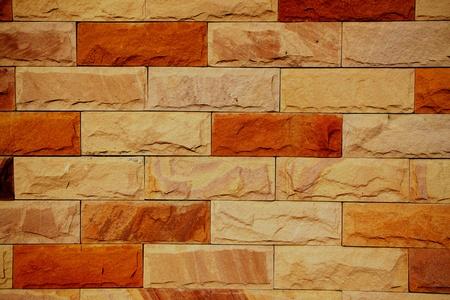 Gloomy brick wall.