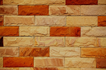 Gloomy brick wall. photo