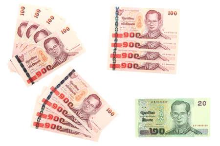 Thai banknote arranged.