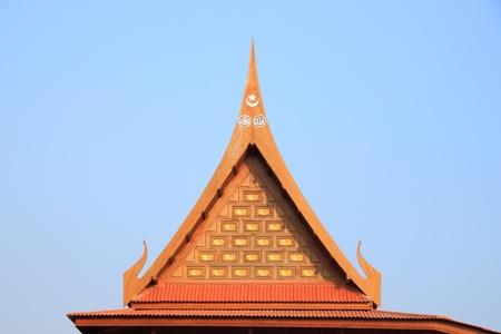 gable: Gable of Muslim Thai house.