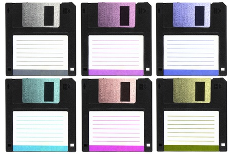 Six color of diskettes. photo