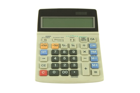 Used gray calculator. Stock Photo - 8990390