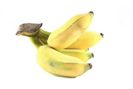 Natural cultivated banana face to right Stock Photo