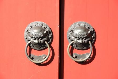 Door handle of chinese temple.