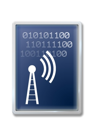 radio beams: Digital communication symbol Stock Photo