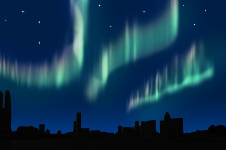 borealis: Aurora in the city