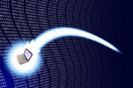 Fast digital life communication movement. Stock Photo - 10633479