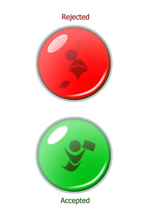 Two status button light of your decision. Stock Photo - 10779311