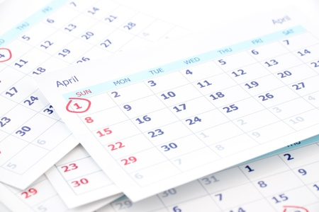April fool day on 1st day of month. Stock Photo