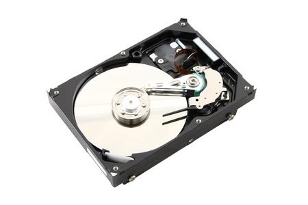 Black cover opened harddisk on white background. Stock Photo - 10938288