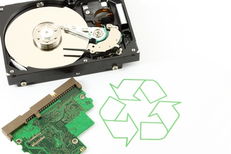Recycle technology and device for better world of life. photo