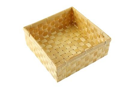 Box of bamboo craft working from Thailand.