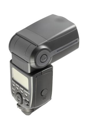 Back of camera flash light on white background. Stock Photo - 10980045