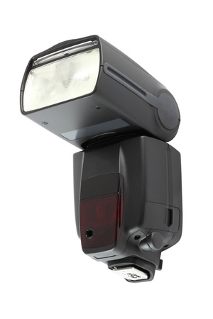 Front of camera flash light on white background. Stock Photo - 11043925