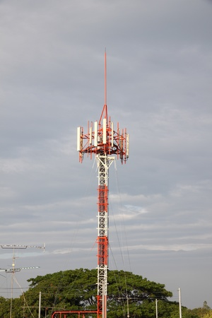 Cellular mobile antenna of some local telecommunication. Stock Photo - 11373702