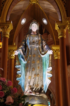 Mary statue near the shrine in church. Stock Photo - 11373724