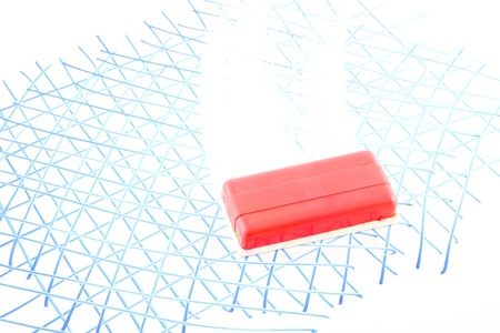 White board eraser. Stock Photo