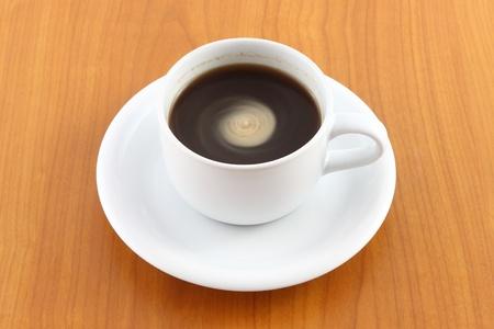 Spiral cream of coffee.