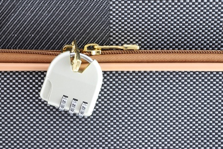 Number combination padlock of luggage Stock Photo - 11595088