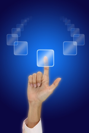Selection button with your hand. Stock Photo - 11594995