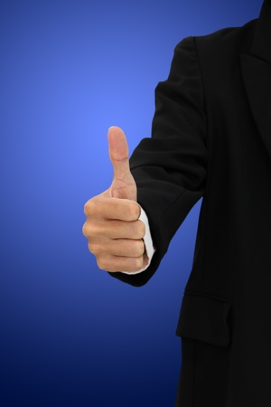 Showing thumb on blur body suit. Stock Photo - 11594992