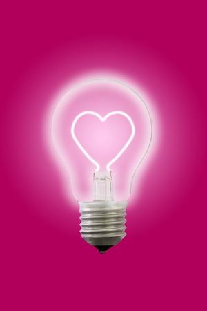 Heart line glow inner electric lamp.