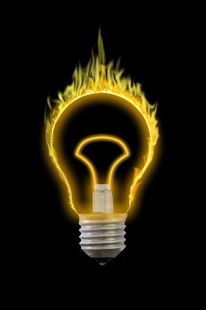 Burn your idea glow in the dark. photo