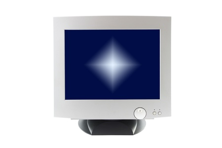 Cathode ray tube monitor on white background. Stock Photo - 12459043