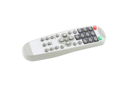 Top side of remote control on white background. Stock Photo - 12459035