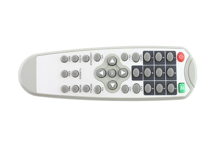 Direct top of remote control on white background. Stock Photo - 12459042