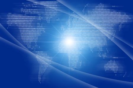 Digital world shine blue ray  photo